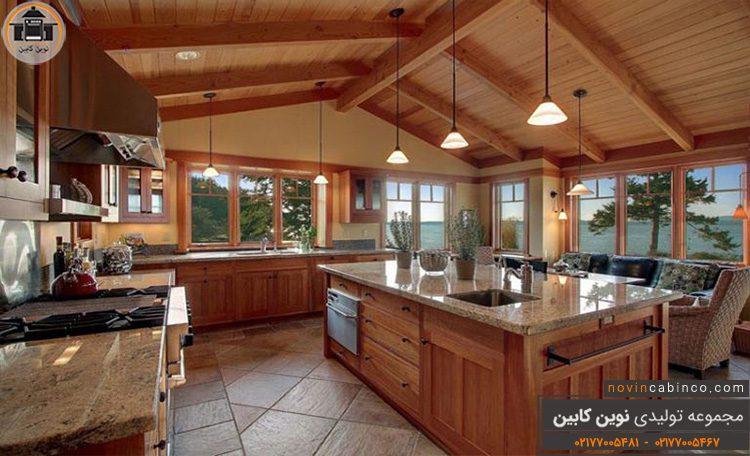 عکس کابینت آشپزخانه جدید و دکور زیبای جنگلی