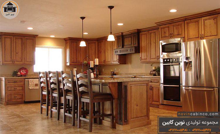 عکس کابینت آشپزخانه جدید کلاسیک مدرن