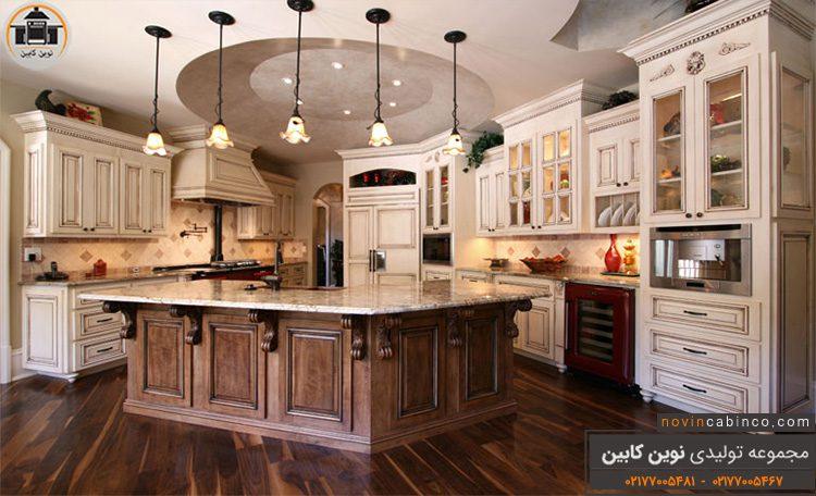 عکس کابینت آشپزخانه جدید کلاسیک