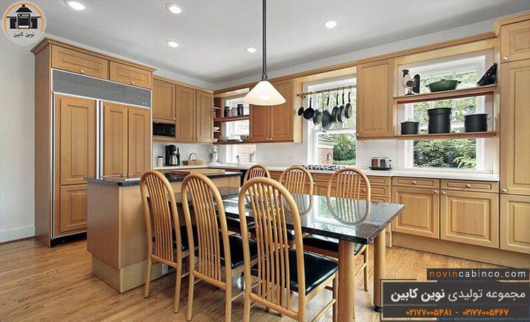 عکس کابینت آشپزخانه نیو مدرن ترکیبی