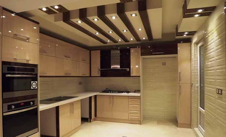 کابینت آشپزخانه های گلاس طلایی