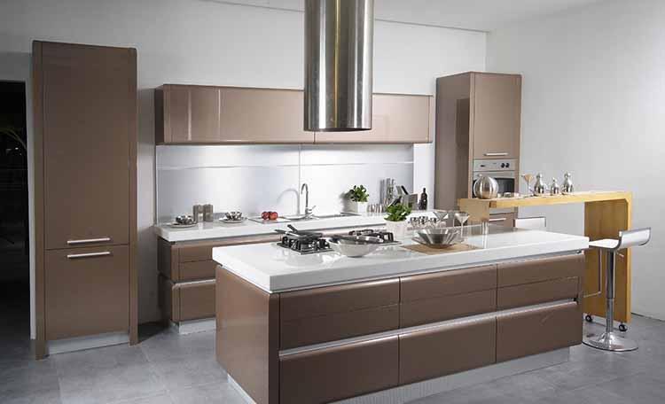 کابینت آشپزخانه های گلاس کاپوچینو
