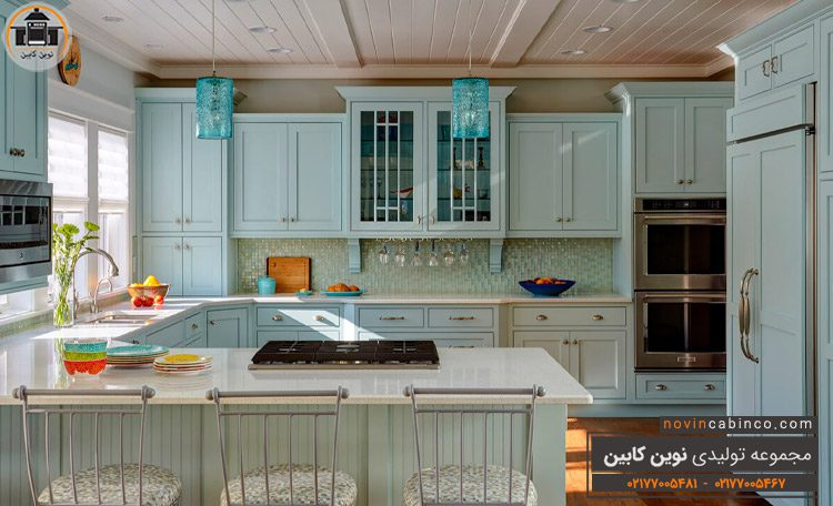 عکس کابینت آشپزخانه روشن