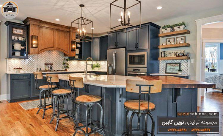 عکس کابینت آشپزخانه جدید چوب