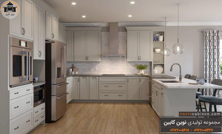عکس کابینت آشپزخانه نئوکلاسیک سفید