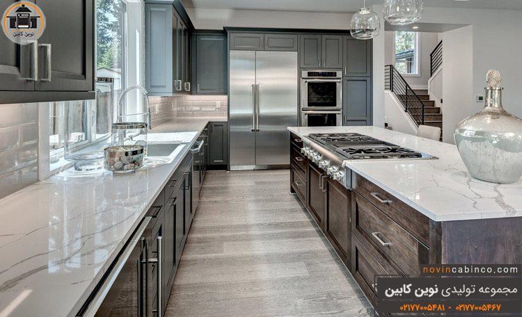 عکس کابینت آشپزخانه خاکستری