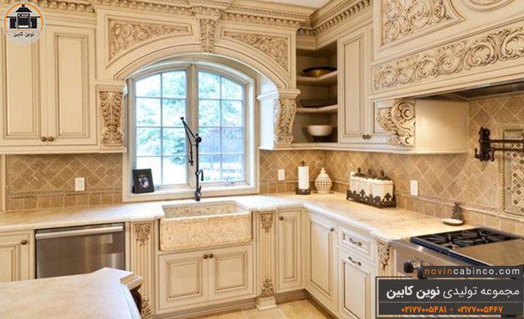 عکس کابینت آشپزخانه طرح چوب سلطنتی