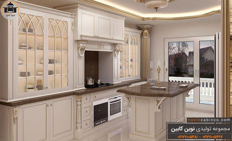 عکس کابینت آشپزخانه مدرن طرحدار