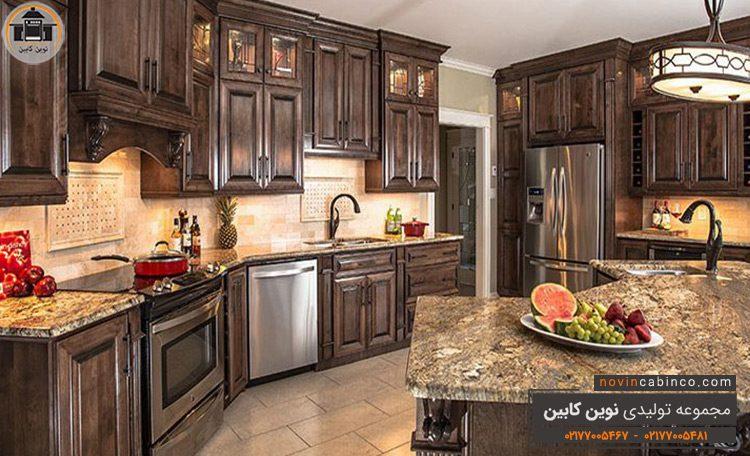 مدل دکوراسیون آشپزخانه چوبی