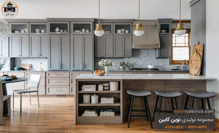 دکوراسیون آشپزخانه پست مدرن بزرگ