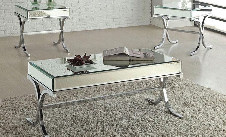 میز جلو مبلی و عسلی شیشه ای