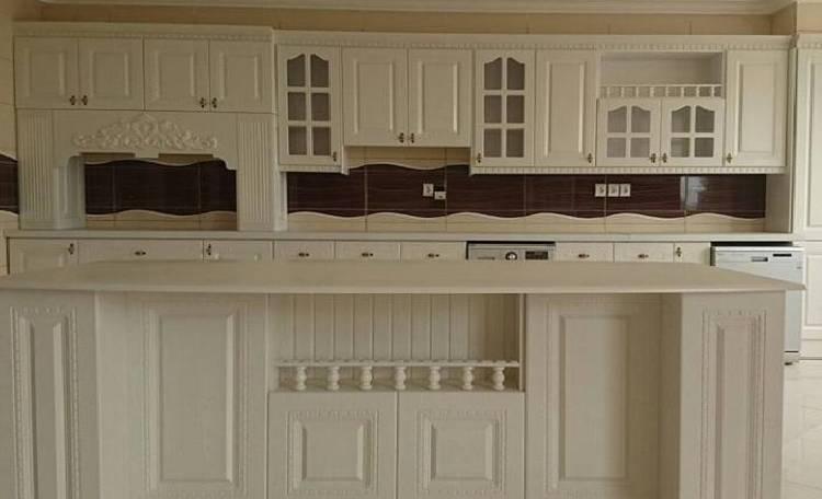کابینت روکش چوب سفید