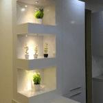 کابینت مدرن سفید های گلاس