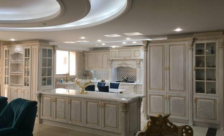 کابینت آشپزخانه طرح چوب