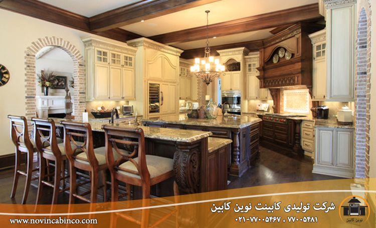 طراحی کابینت آشپزخانه چوبی