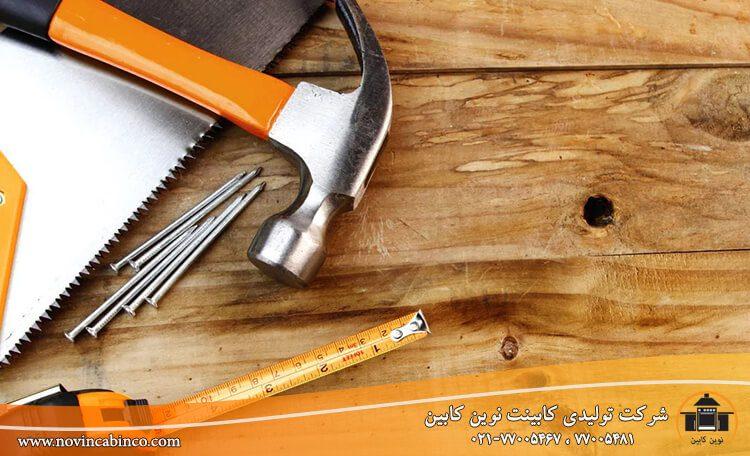 نحوه تولید کابینت کلاسیک چوبی