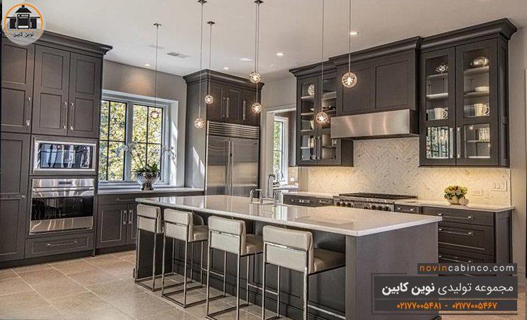 جدیدترین مدل کابینت آشپزخانه طرح انزو