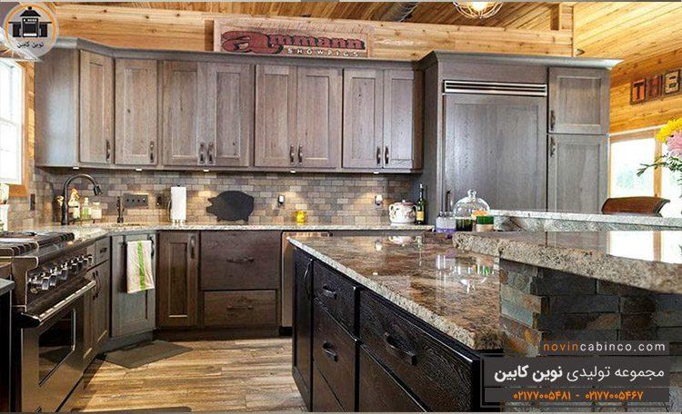 جدیدترین مدل کابینت آشپزخانه چوب