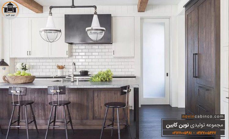 جدیدترین مدل کابینت آشپزخانه مدرن طرح چوب