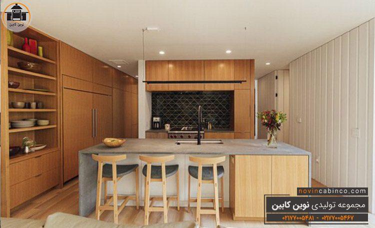 جدیدترین مدل کابینت آشپزخانه رنگ روشن