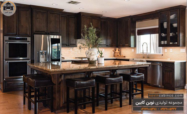 جدید ترین مدل کابینت آشپزخانه قهوه ای
