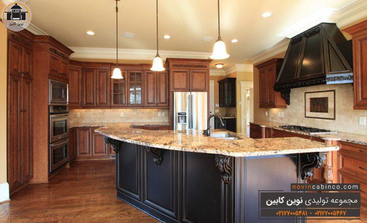 جدیدترین مدل کابینت آشپزخانه چوبی