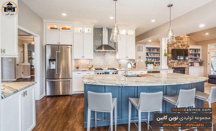 جدیدترین مدل کابینت آشپزخانه دو رنگ